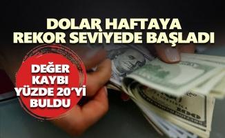 Dolar haftaya rekor seviyede başladı