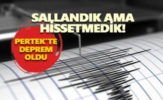 Pertek'te deprem oldu