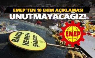 EMEP'ten 10 Ekim açıklaması