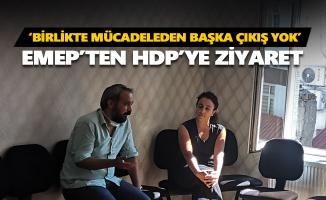 EMEP'ten HDP'ye dayanışma ziyareti