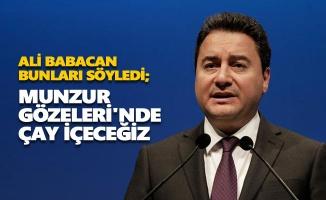 Ali Babacan: Munzur Gözeleri'nde çay içeceğiz