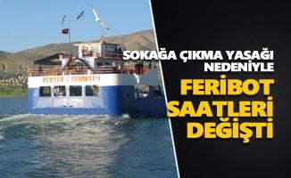 Sokağa çıkma yasağı nedeniyle feribot saatleri değişti