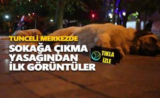 Tunceli'de sokağa çıkma yasağından ilk görüntüler