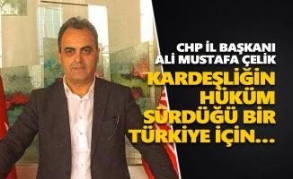 Ali Mustafa Çelik: Kardeşliğin hüküm sürdüğü bir Türkiye için…