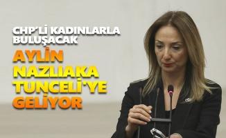 Aylin Nazlıaka Tunceli'ye geliyor