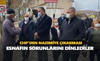 CHP Nazımiye'de esnafın sorunlarını dinledi