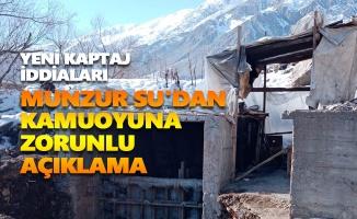 Munzur Su'dan kamuoyuna zorunlu açıklama
