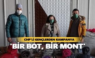CHP'li gençlerden 'bir bot, bir mont' kampanyası