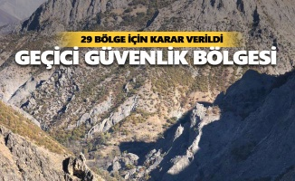 İşte Tunceli'de ilan edilen özel güvenlik bölgeleri