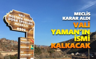 Meclis karar aldı: Vali Mustafa Yaman'ın ismi kalkacak