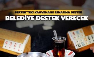 Pertek'teki kahvehane esnafına destek