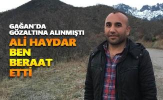 Ali Haydar Ben beraat etti