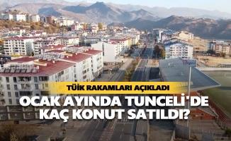 Ocak ayında Tunceli'de kaç konut satıldı?