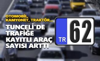 Tunceli'de trafiğe kayıtlı araç sayısı arttı