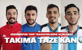 Dersimspor yeni transferlerini açıkladı