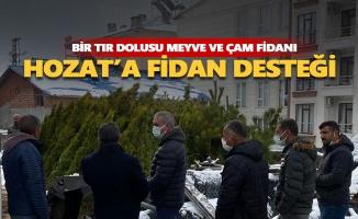 Hozat'a fidan desteği