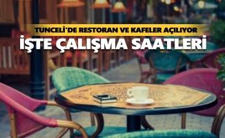 Tunceli'de restoran ve kafeler açılıyor
