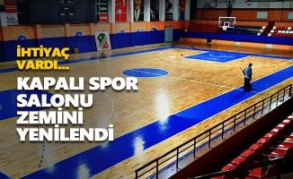 Atatürk Kapalı Spor Salonu zemini yenilendi