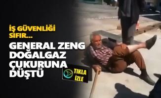 General Zeng doğalgaz çukuruna düştü