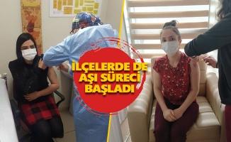 Öğretmenler aşı olmaya başladı