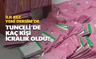 Tunceli'de kaç kişi icralık oldu?