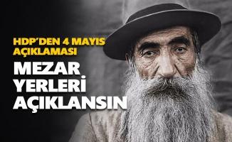 HDP: Seyit Rıza'nın mezar yeri açıklansın