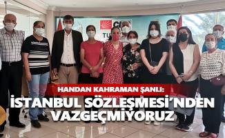 CHP'li kadınlar: İstanbul Sözleşmesi'nden vazgeçmiyoruz!