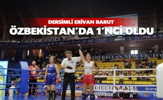 Dersimli Erivan Barut Özbekistan'da 1'nci oldu