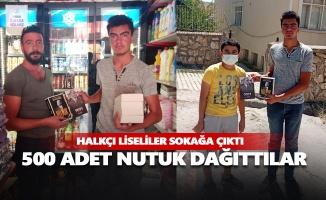 CHP'li liseliler 500 adet Nutuk dağıttı