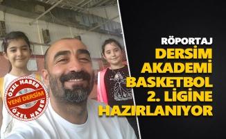 Dersim Akademi, Basketbol 2. Ligine hazırlanıyor
