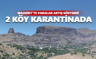 Mazgirt'te 2 köy 10 gün süreyle karantinaya alındı