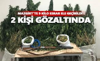 Mazgirt'te 9 kilo esrar ele geçirildi