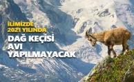 İlimizde 2021 yılında dağ keçisi avı yapılmayacak