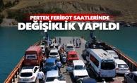 Pertek feribot saatlerinde değişiklik yapıldı