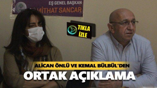 Alican Önlü ve Kemal Bülbül'den gündeme ilişkin ortak açıklama
